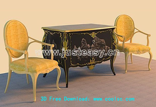 European-style furniture, classic chair, chairs, tables, cha