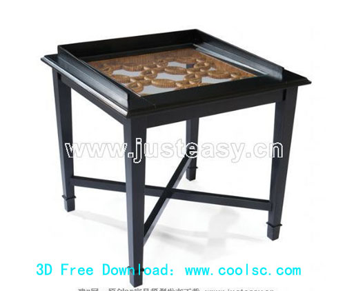 Several cases, furniture, Chinese, wood carving, D model