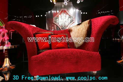 Claes sofa, sofa, furniture, single sofa, 3D model