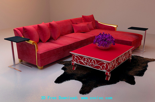 Bao Yang L-sofa, sofa, furniture, sofa over, 3D model