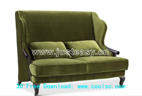 Bao Yang European neo-classical sofa, sofa, single sofa, fur