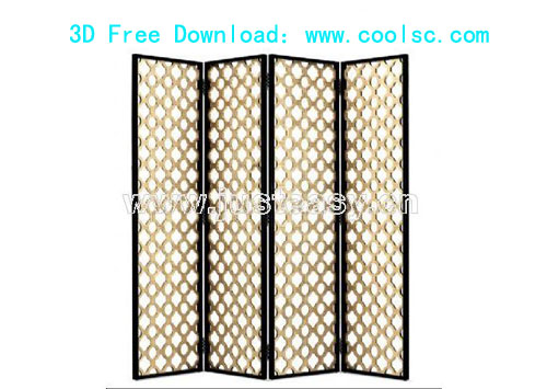 Bao Yang screen, screen, furniture, 3D model