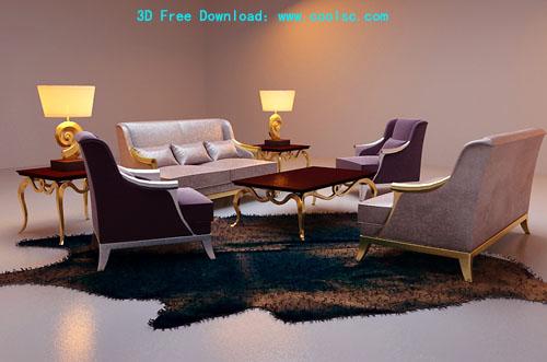 Link toBao yang leisure sofa combination sofa, furniture, 3d model
