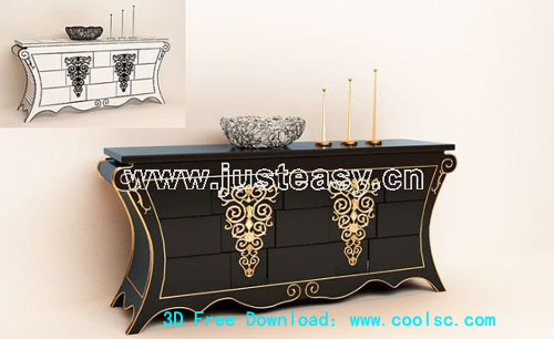 Boloni luxurious meal side cabinet, dishes, cabinets, furnit