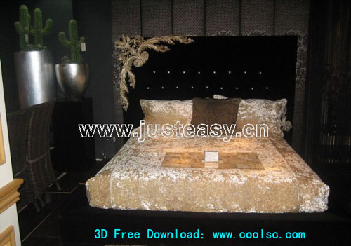 Boloni luxury beds, beds, furniture, 3D model
