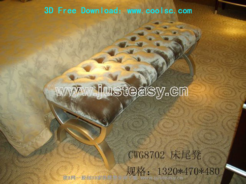 End of the bed stool, Continental, furniture, stools, 3D mod