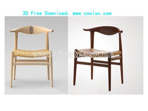 Danish designer Hans-Wegner's horn chair, European-style, fu