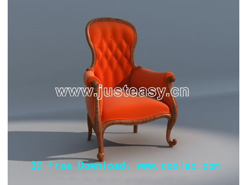 Single sofa, European, soft seating, furniture, chairs, wood