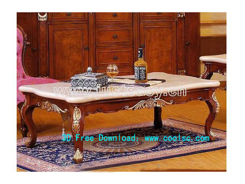 European-style coffee table, desk, furniture, model download