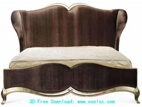 European-style bed, wood bed, bedroom bed, furniture, model