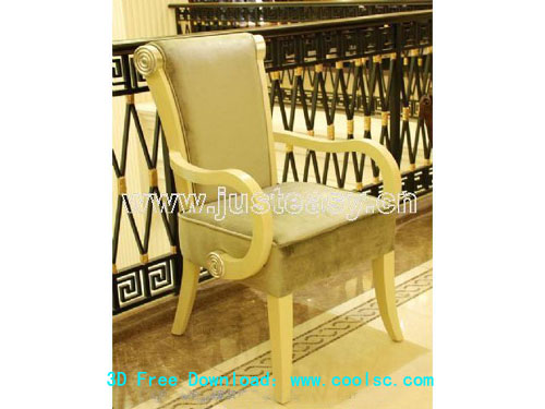 European-style armchairs, chairs, chairs, wooden chairs, fur