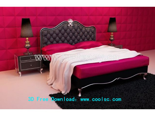Link toModern bed, european-style, bed, bedroom, soft bed, model do