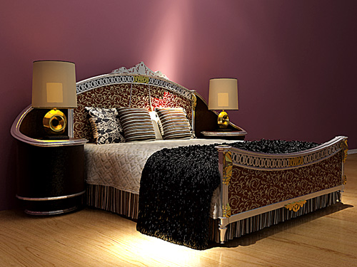 European-style luxury bed, bed, double bed, European, Furnit