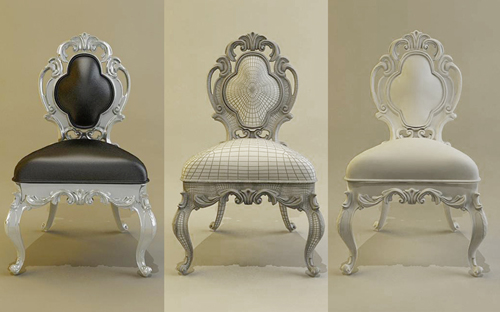 Baroque Chairs, Chairs, European, Furniture, Model Download,