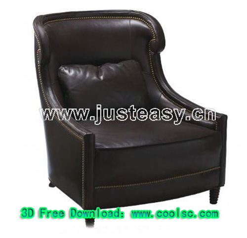 Black leisure sofa, sofa, single sofa, furniture, 3D models,