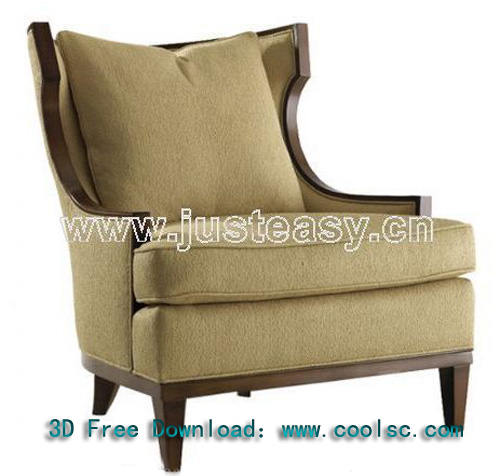 European classical fabric sofa -2, sofa, single sofa, fabric