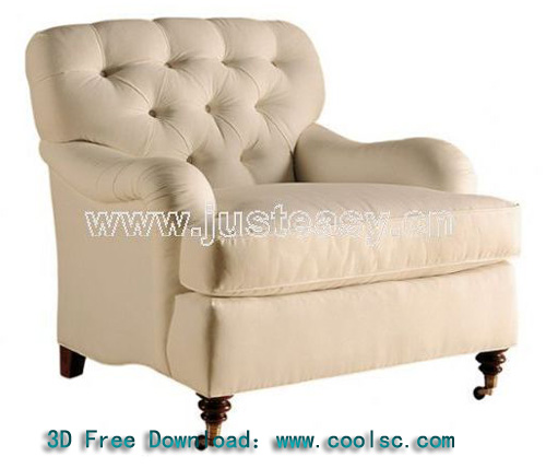 Classic European-style single sofa, fabric sofa, white sofa,