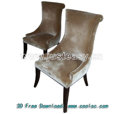 Dining tables and chairs, chairs, European furniture, soft,