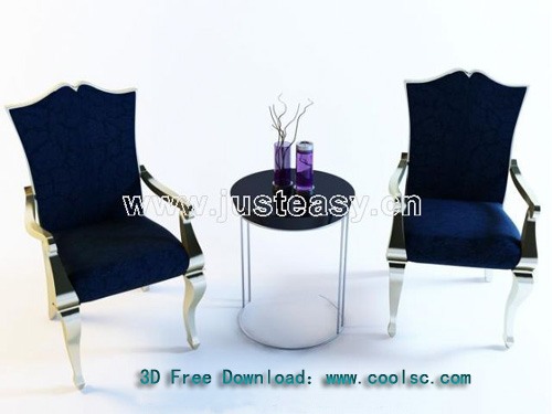 Leisure chair, chair, European-style furniture, soft, model
