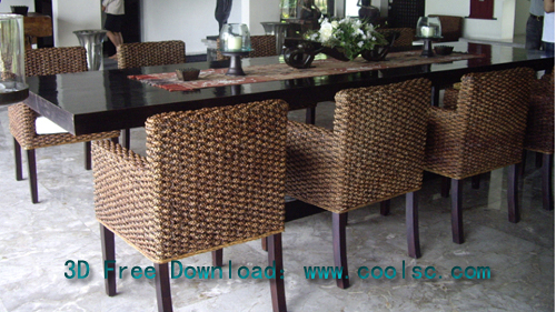 Southeast Asian style, dining tables and chairs, restaurant,