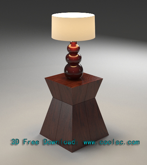 Southeast Asian style table lamp, table lamp, lamp, wood, mo