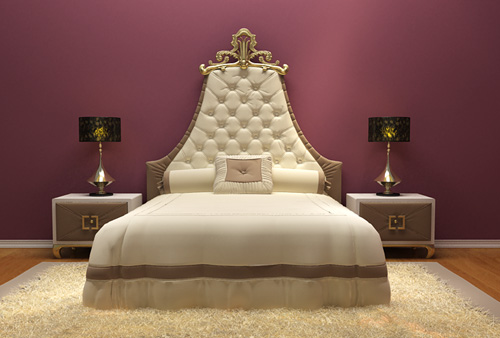 European-style luxury bed, bed, furniture, double bed, model