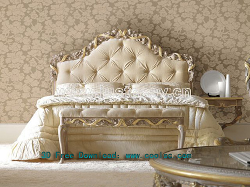 Boloni classical bed, bed, furniture, double bed, model down