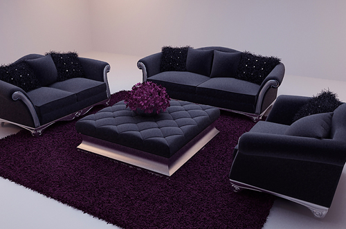 New Baroque sofa, modern furniture, black sofa, sofa, combin