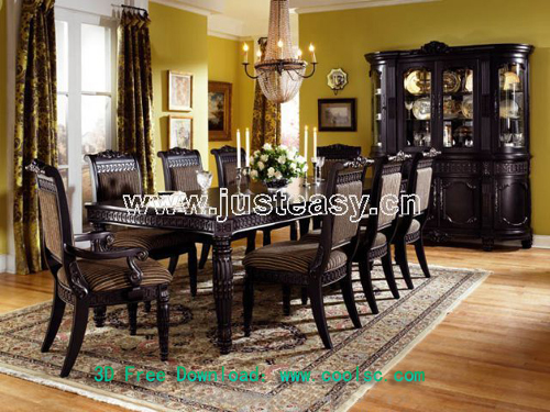 Siwei Lan – dining table and chair combinations, European fu
