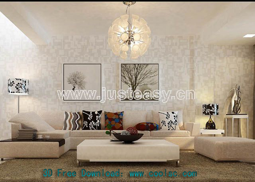Full set of accessories of modern sofa, modern furniture, so