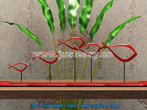 Plant ornaments, decoration, display, furnishings, interior