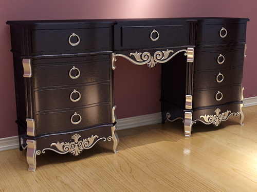 European-style furniture, solid wood furniture, bed, cabinet
