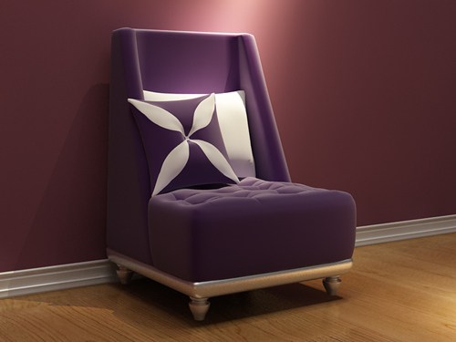 European single sofa, sofa chair, fabric sofa, chair, fine f