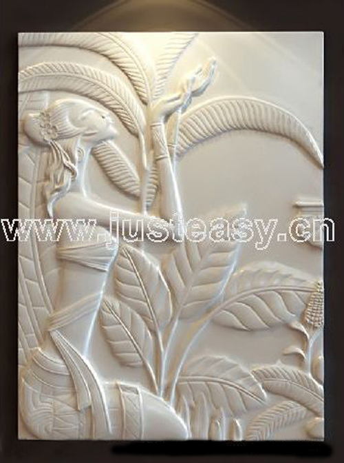 Figure relief, sculpture, plaster, works of art, sculpture,