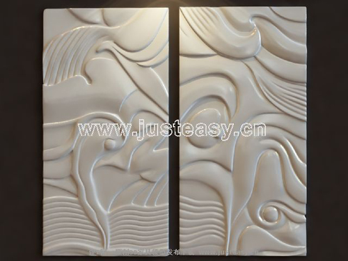 Abstract reliefs, sculptures, plaster, works of art, sculptu