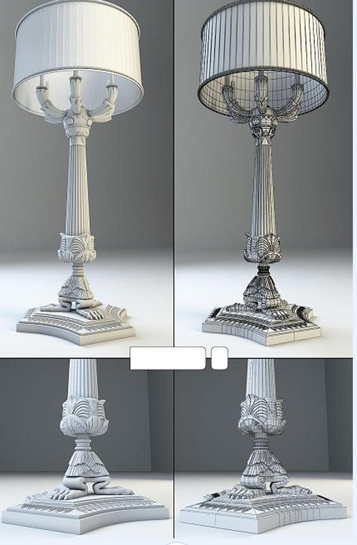 European-style table lamps, lamps, European, furniture, lamp