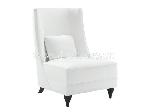 White sofa, fabric, European furniture, single sofa, sofa ch