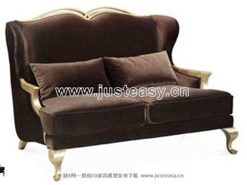Continental sofa, fabric sofa, double sofa, furniture, Europ