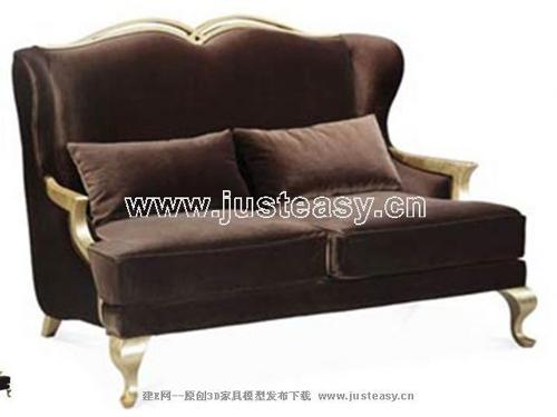 Continental sofa, fabric sofa, double sofa, furniture, Europ