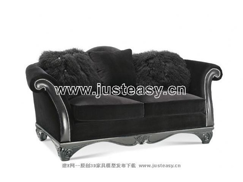 New Baroque sofa, fabric sofa, double sofa, furniture, Europ