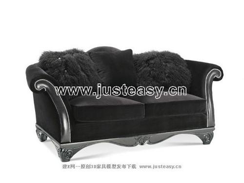 Link toNew baroque sofa, fabric sofa, double sofa, furniture, europ