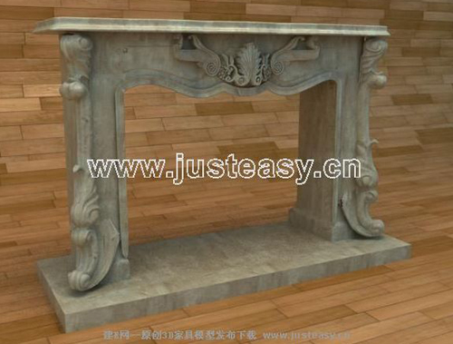 European-style fireplace, stone carving, stone oven, firepla