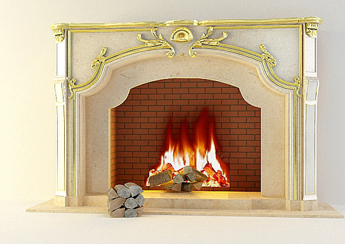 Fireplace, fireplace, decoration, European component, stone