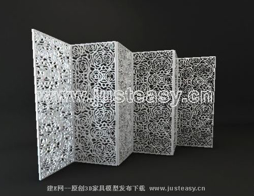 Screen series, white flowers carved screens, modern furnitur