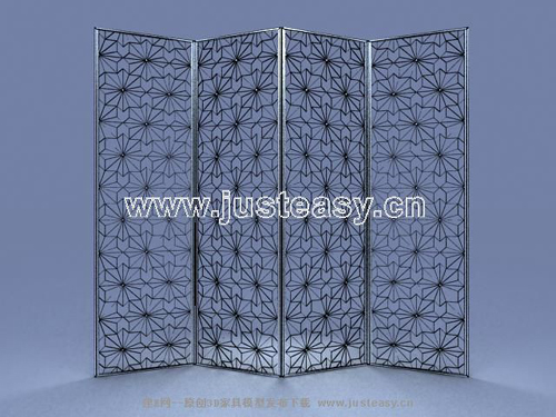 Pattern iron screen, iron, carved, European, furniture, furn