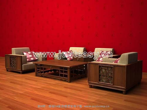 Chinese furniture, Chinese furniture, sofa, coffee table, wo