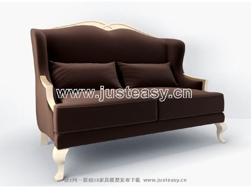 Brown sofa, sofa, fabric, double sofa, European furniture, f