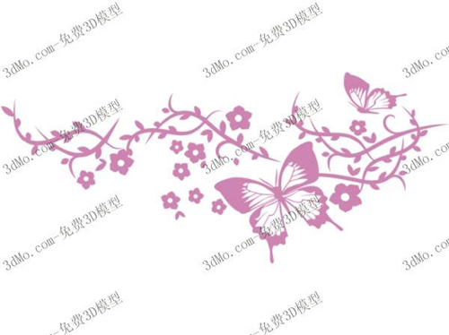 Butterfly wall painting, wallpaper, wallpaper, decorative, h