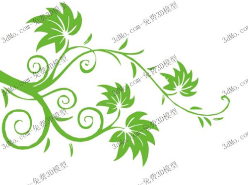 Green leafy branches, wallpaper, wallpaper, decorative, home