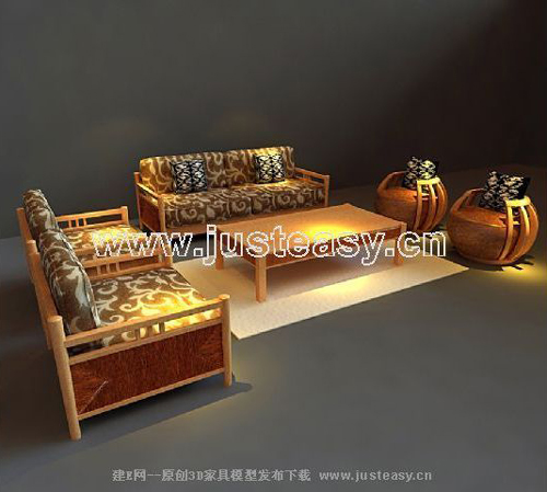 Southeast Asian style sofa furniture, wooden sofa, sofa, fur